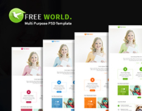 FREE WORLD Multipurpose Responsive PSD Theme
