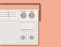 Murphy Melina Radio from 1970s / Vector Drawing