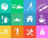 Metro style icons flat design