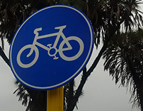 Signage for cycling track - Diu