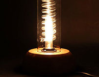 Industrial glass table lamp