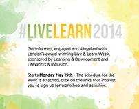 Live Learn Week 2014 Branding