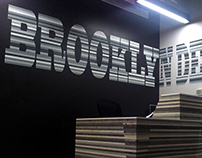 Hand painted signage for the business 'Brooklyn Desks'