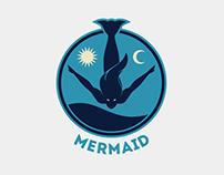 Mermaid Logo Template