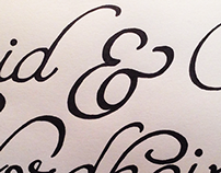 Nordheim Wedding Hand Lettering