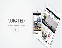 Curated  Ultimate Modern Magazine Theme