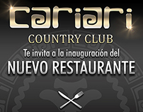 Cariari Country Club Golf Restaurant / Advertisement