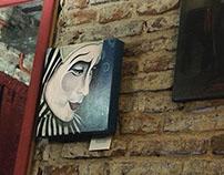 Arte en las paredes de los bares