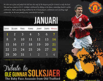 Tribute to Ole Gunnar Solksjaer Table Calendar