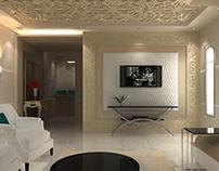 Salon design in a private villa - Riyadh