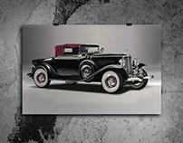 Technical Rendering - Vintage Car Vectorized