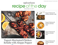 Epicurious Newsletters