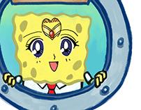 Spongebob Face Mix-up Name Tags