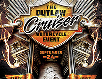 Outlaw Motorcycle Event Flyer Template