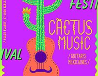 Cactus Music Poster
