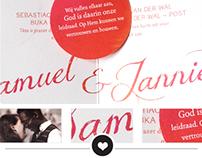 Trouwkaart Samuel & Jannieke