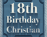 Retro Birthday Card Christian