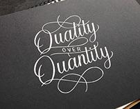 Quality over Quantity