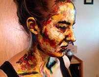 Painting on a friend's face