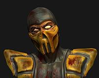 Scorpion-Mortal Kombat 3d Skulpt