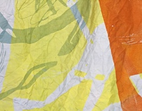 Experiments with printed textiles, dyes and light
