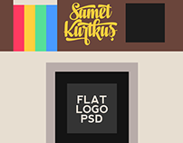 Flat Instagram Icon PSD