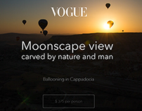 Moonscape view carved by nature and man - Cappadocia