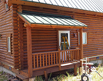 Refinishing Log Home in Grand County, Granby, Colorado