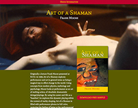 Art Of A Shaman Web Site & Book Design