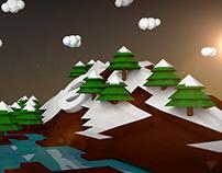 """Isometric """"Ease"""" Snow Mountain"""