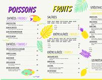 Menu / Fish & Fruit