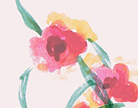 Watercolor Flowers - Prints for Girls