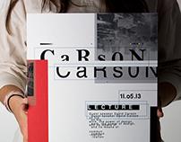Carson Lecture Poster