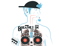Graphic T-shirt Illustrations (Teepublic)