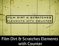 Film Dirt & Scratches Elements with Counter