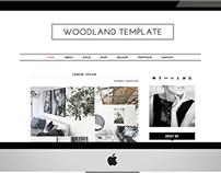Woodland - Premade Blogger Template