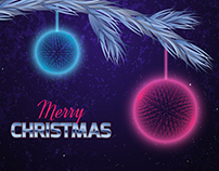 Christmas card in the style of the eighties.