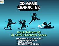 Ninja Shadow #1 2D Game Character Sprite