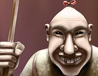Personaje mórbido de circo.