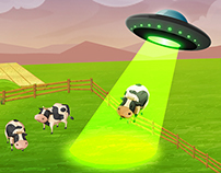 Online Game Landing Page - UFO Theme