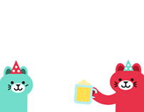 Beurthday Gif with cat