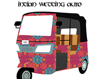 Indian Wedding Auto Rikshaw