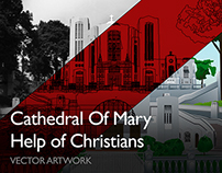 Cathedral Of Mary Help of Christians Vector Church