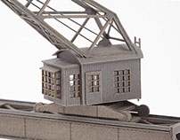 Gantry crane in 1:220 scale