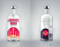 ABSOLUT INDIA: label design