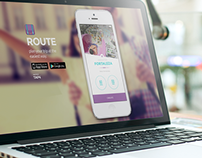 UX/UI Hot Site - Route App
