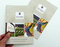Bodegas Ochoa - Díptico comercial