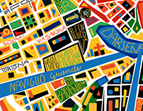 Maps of Milan / Editorial Illustrations