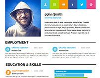 FREE Adobe Muse Personal Resume Template