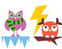 Weather owls for Cabin app